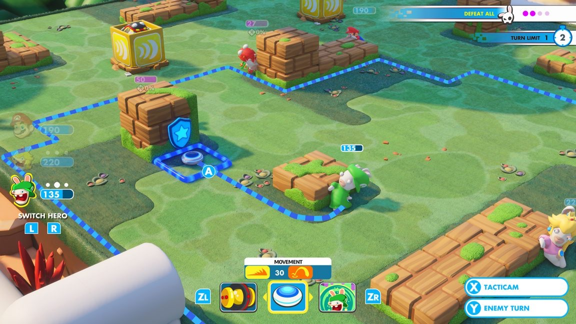 Mario + Rabbids Strategic Gameplay